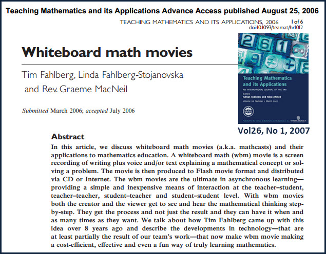 Teaching mathematics and its applications